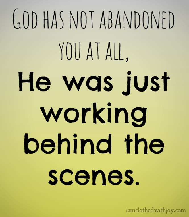 God working